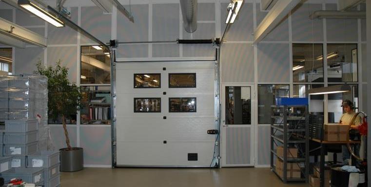 MATADOR lyd væg med absorption, port, døre, vinduer.