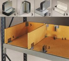 C: Spånpladevægge. Plukkehylde i 19mm spånplade med viste beslag.