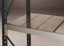 D: Galvaniserede stålhylder. Opbygges af 250 mm brede elementer. Leveres i dybde: 500, 600, 800, 1000 mm.