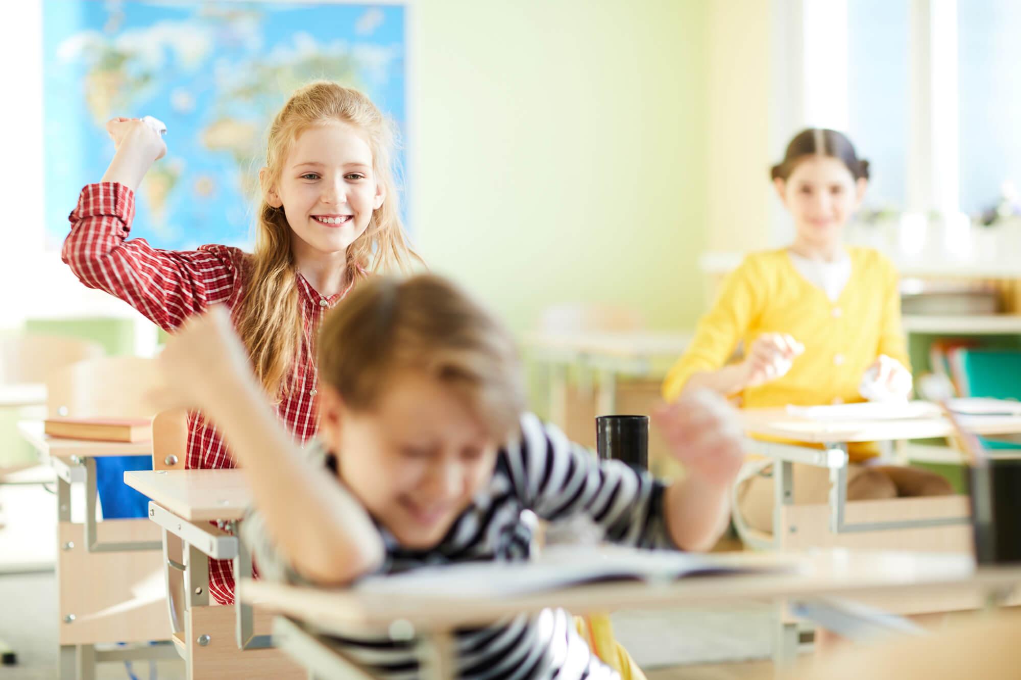 Mange af vores kunder er skoler.
