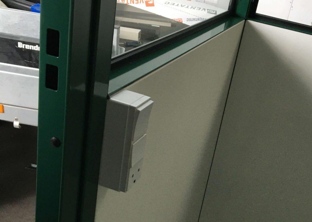 Flytbart kontor komplet med el, lys og ventilation